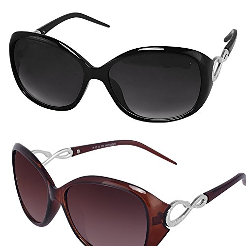 Y&S Womens Sunglasses Of 2 Combo Of 2 Sunglass Price in India