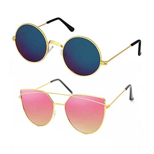 Elligator Unisex 2 Sunglasses Combo Price in India