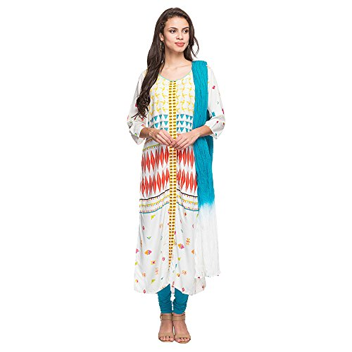 STOP to start Shoppers Stop Womens Round Neck Printed Churidar Suit Price in India