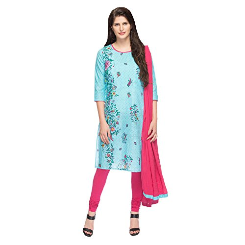 STOP to start Stop Womens Round Neck Printed Churidar Suit Price in India
