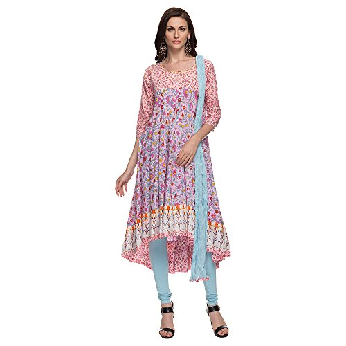 STOP to start by Shoppers Stop Womens Round Neck Printed Churidar Suit Price in India