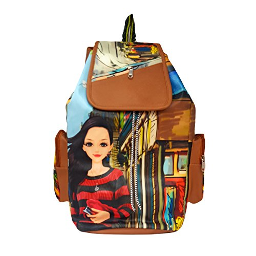 Typify Printed Casual Purse Fashion School Leather Backpack Shoulder Bag Mini Backpack Girls & Women's Bag Price in India