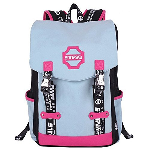 Generic College Backpack 27 Ltrs Fashionable Sky Pink Color Casual Backpack For Girls Price in India