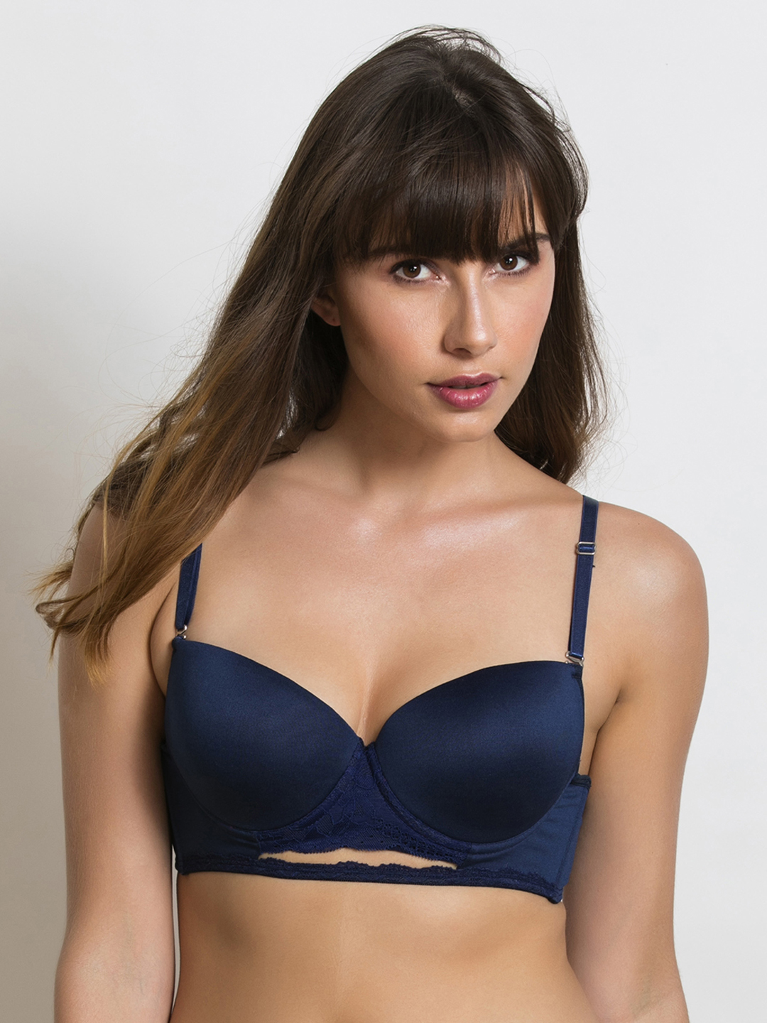 2c95465bde Zivame Blue Solid Non-Wired Lightly Padded T-shirt Bra ZI1396FASHZBLUE