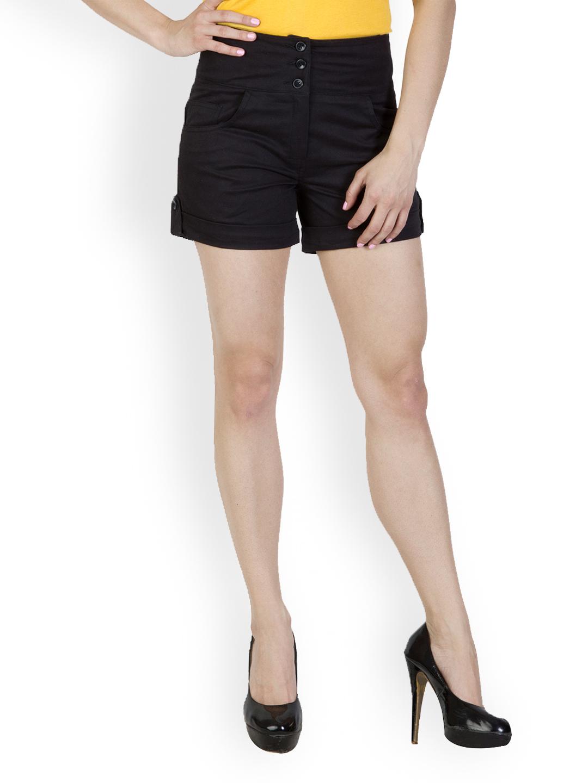 Rider Republic Women Black Shorts Price in India