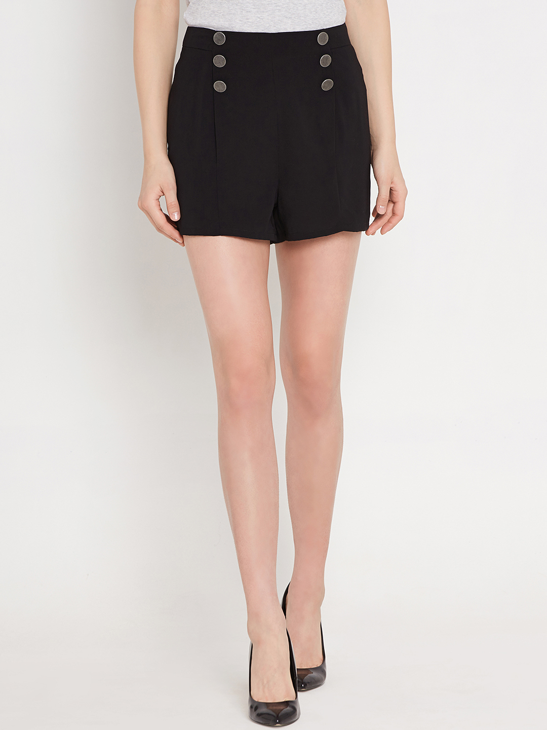 Nun Women Black Shorts Price in India