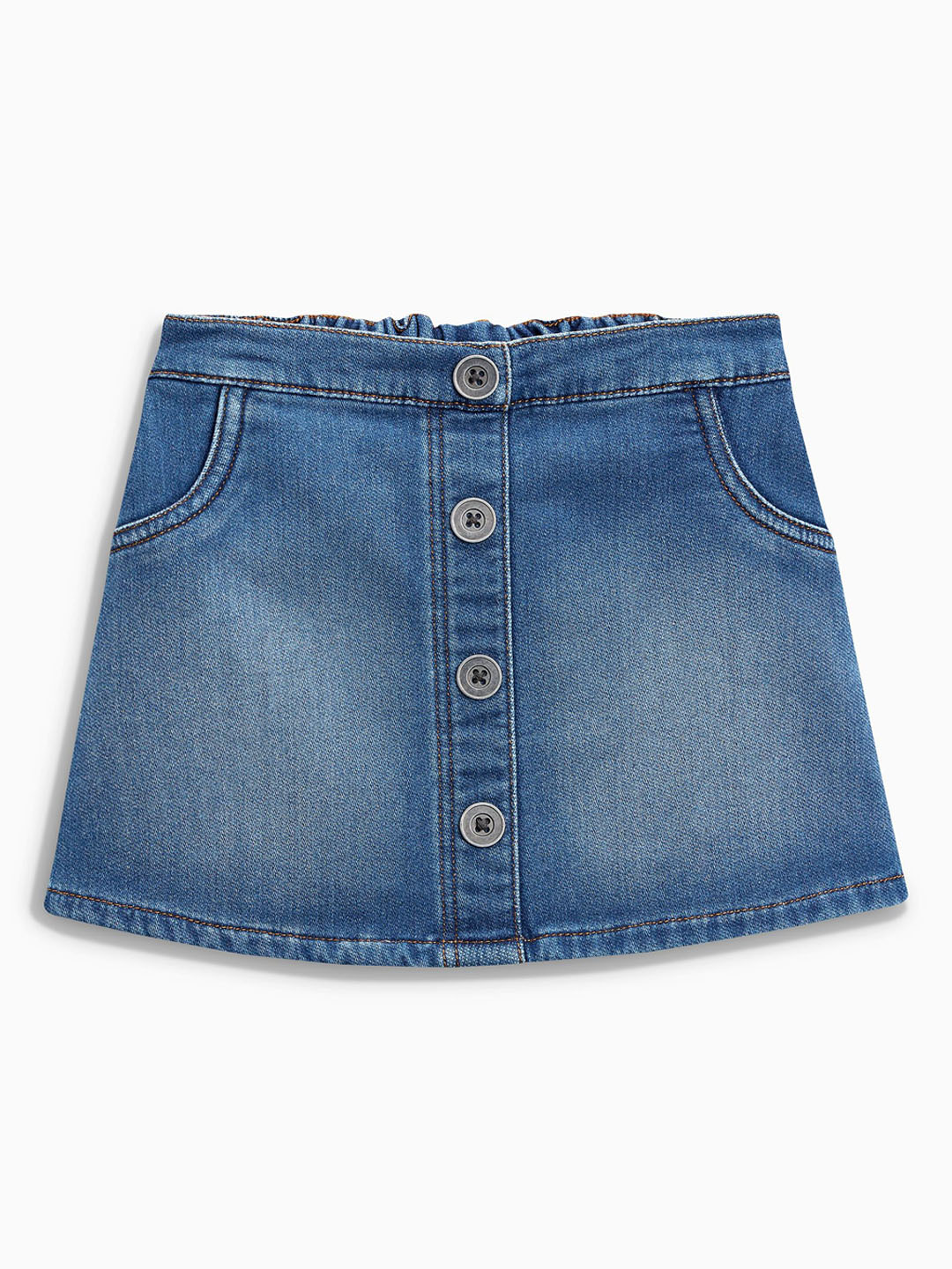 next Girls Blue Denim A-Line Mini Skirt Price in India