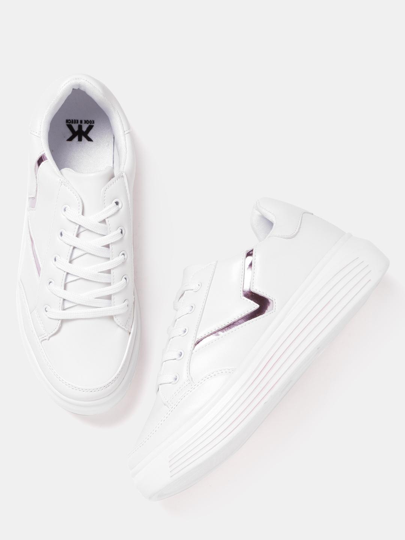 b0f62d6c84e Buy Kook N Keech Women White Sneakers Online