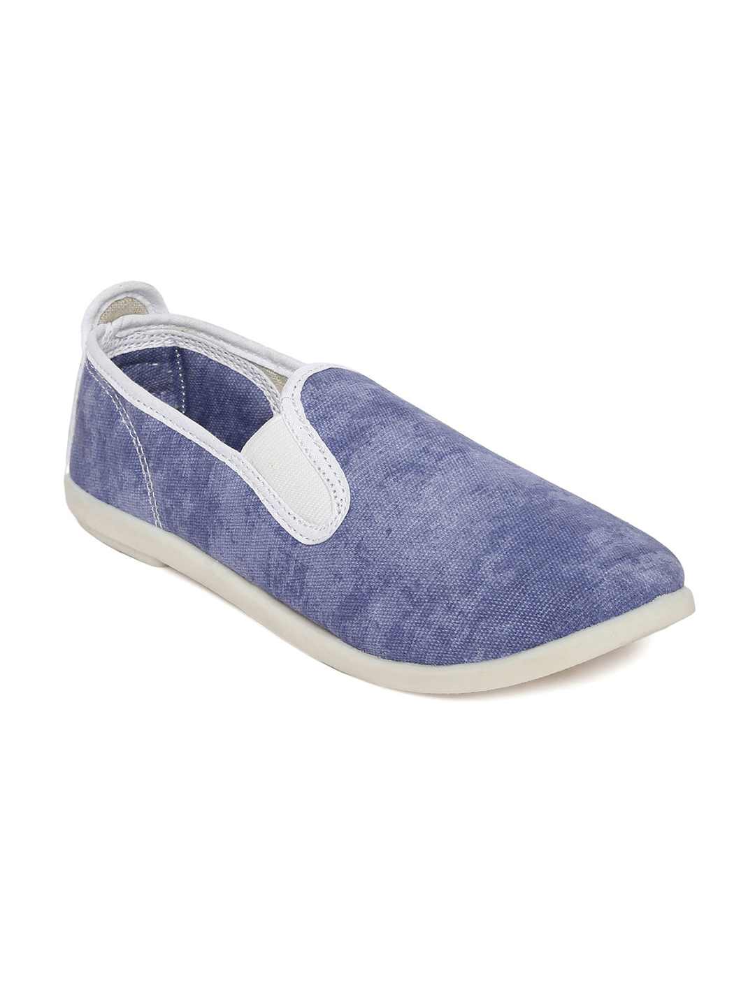 SCENTRA Women Blue Slip-On Sneakers Price in India