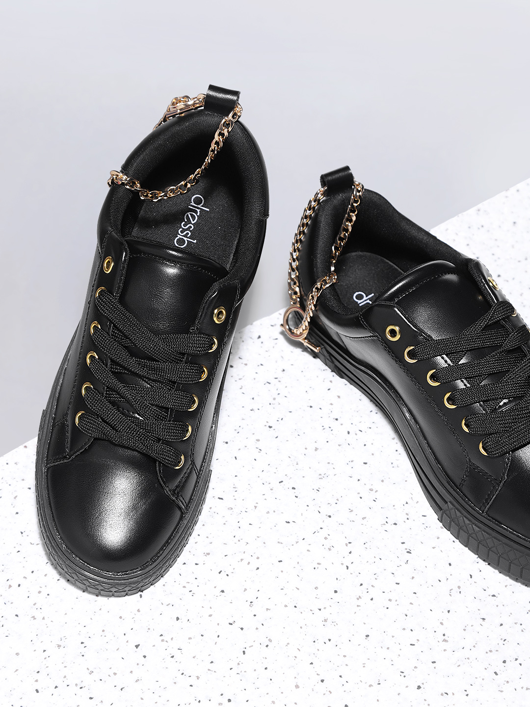 DressBerry Women Black Sneakers Price in India