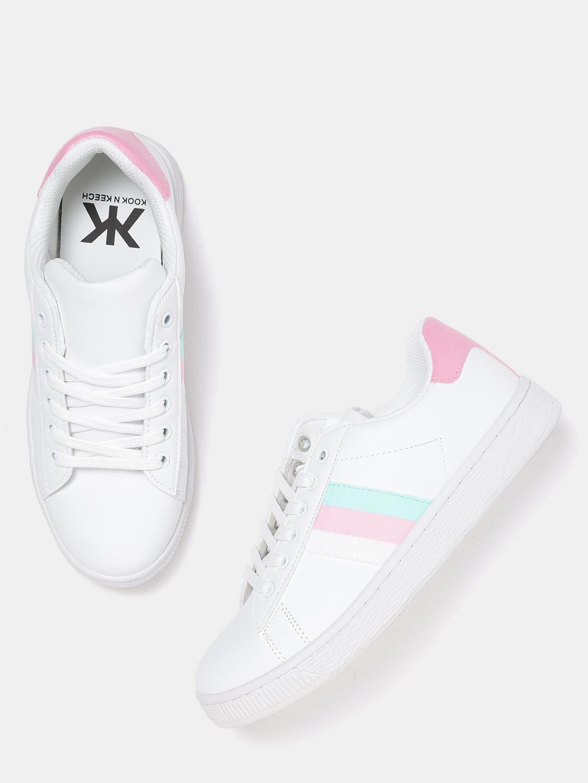Kook N Keech Women White Sneakers Price in India