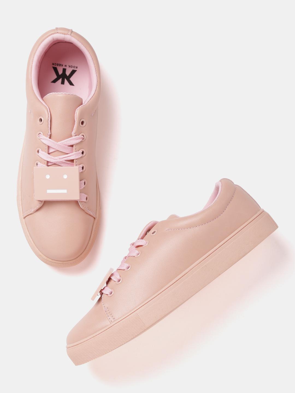 Kook N Keech Women Peach-Coloured Sneakers Price in India