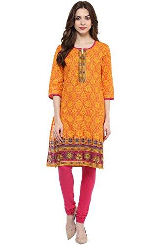 Rangmanch By Pantaloons Women's Straight Kurta Price in India