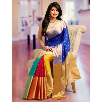 Sahaanaa Sarees Art Silk Multicolour Saree - P001 Price in India