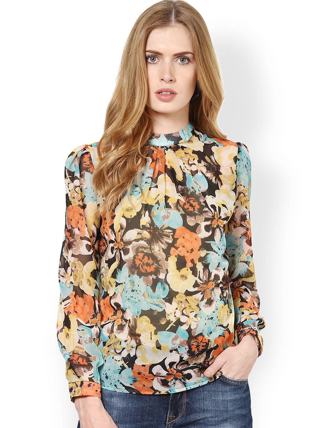 Harpa Women Multicoloured Printed Top Price in India