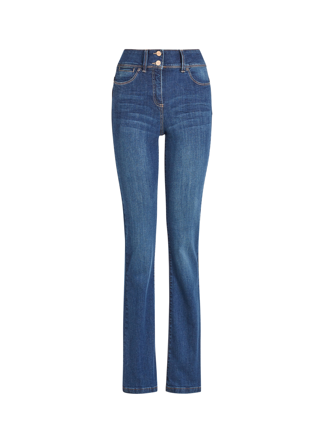 next Women Blue Bootcut Fit Low-Rise Clean Look Stretchable  Jeans Price in India