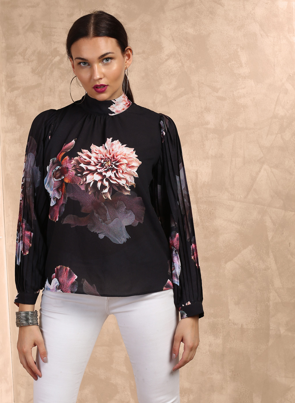 Black Printed Blouse Price in India