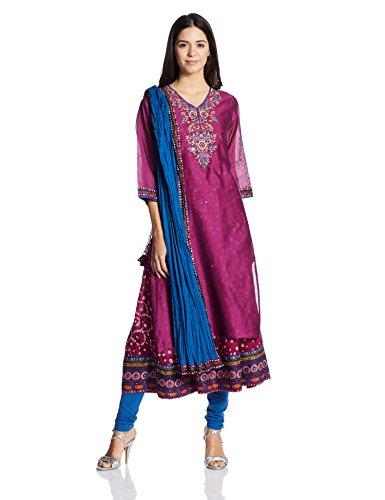 BIBA Women's Straight Salwar Suit Price in India