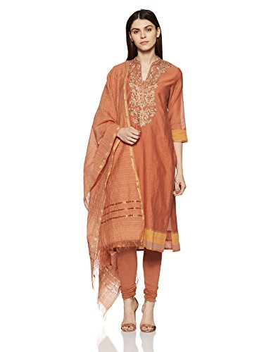 BIBA Women's Straight Salwar Suit Price in India
