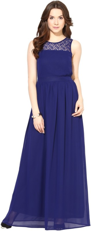 Harpa Women's Maxi Dark Blue Dress Price in India