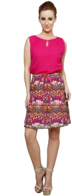 Vastrasutra Women's A-line Multicolor Dress Price in India