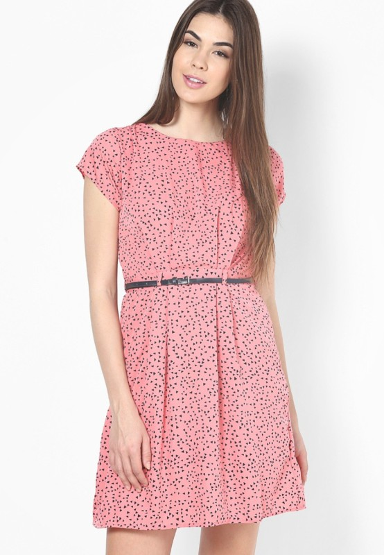 Mayra Women's A-line Pink Dress Price in India