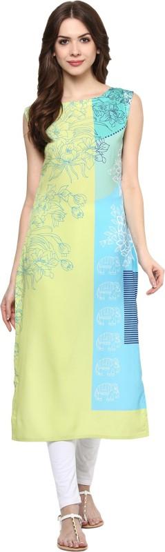 Ziyaa Casual Floral Print Women's Kurti(Multicolor) Price in India