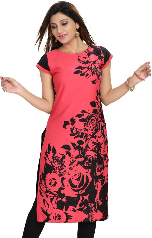 Meher Impex Floral Print Women's Kurti(Pink) Price in India