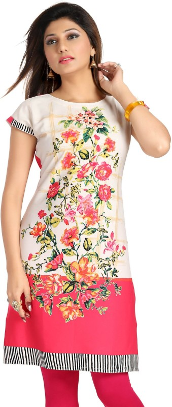 Meher Impex Casual Floral Print Women's Kurti(Pink) Price in India