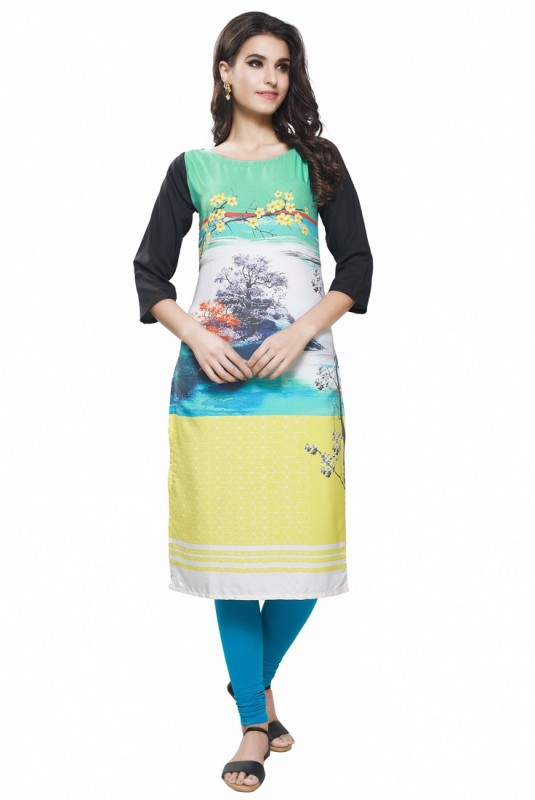 Swaron Casual Floral Print Women's Kurti(Multicolor) Price in India