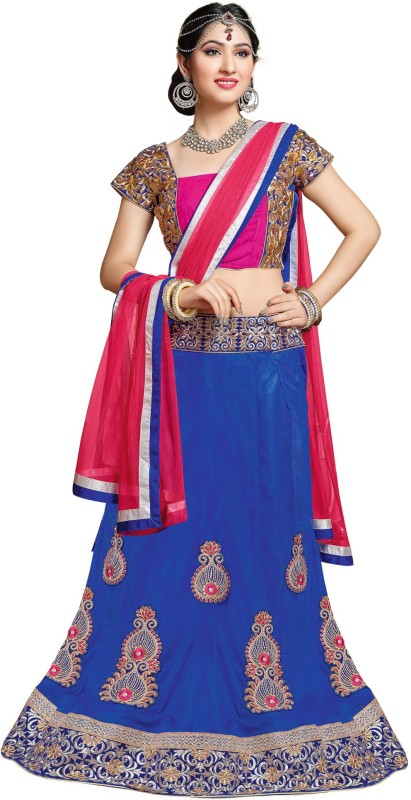 MF Embroidered Women's Lehenga Choli(Stitched) Price in India