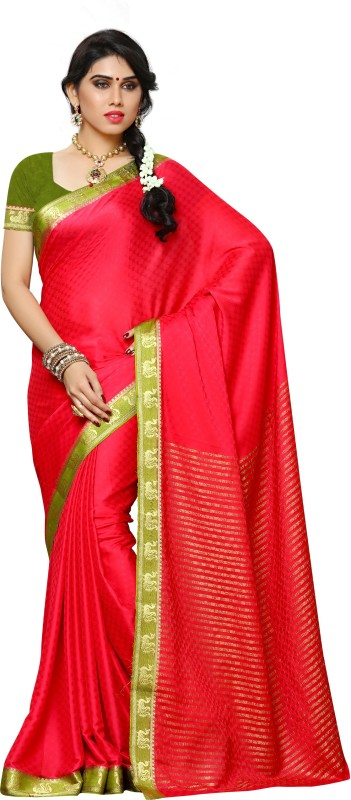 Mimosa Embellished Kanjivaram Crepe Saree(Pink) Price in India