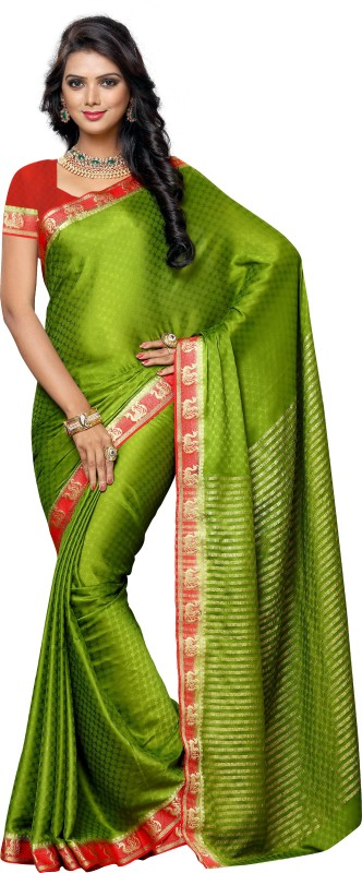 Mimosa Embellished Kanjivaram Crepe Saree(Light Green) Price in India