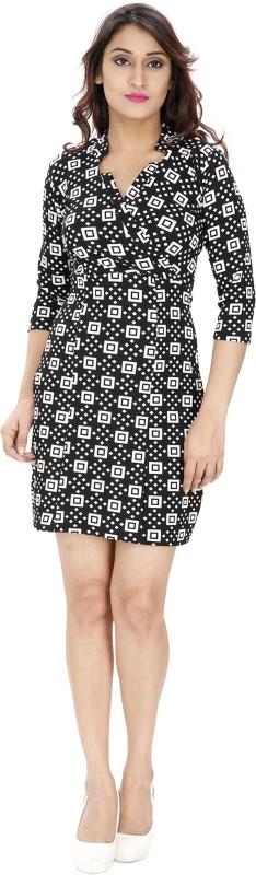 Franclo Women's Bandage Black Dress Price in India