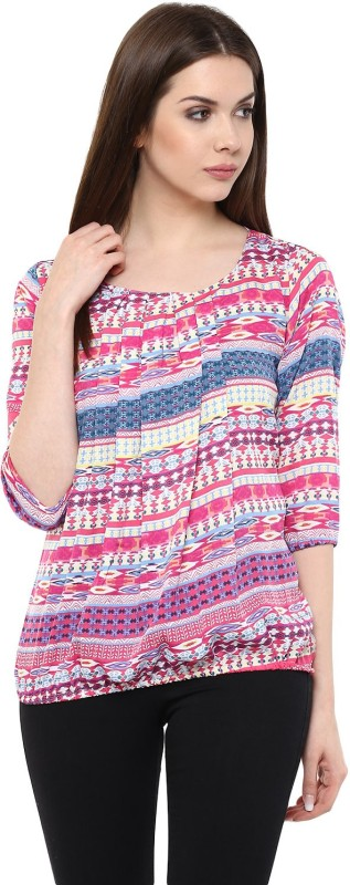 Mayra Casual 3/4th Sleeve Printed Women's Multicolor Top Price in India