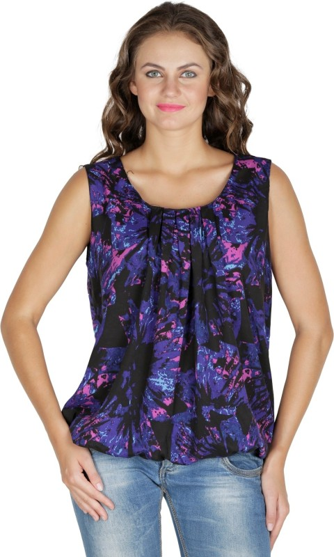 Mayra Party Sleeveless Printed Women's Multicolor Top Price in India