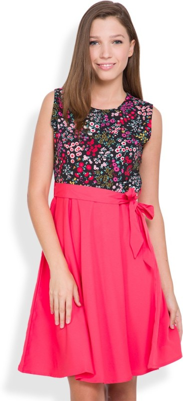 Tokyo Talkies Women's Sheath Pink Dress Price in India
