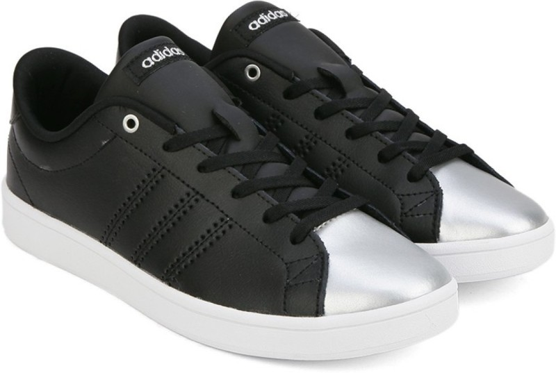 Adidas Neo ADVANTAGE CLEAN QT W Sneakers(Black, Silver) Price in India