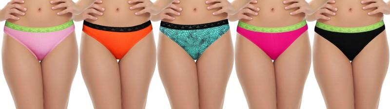 Selfcare Women's Bikini Multicolor Panty(Pack of 5) Price in India