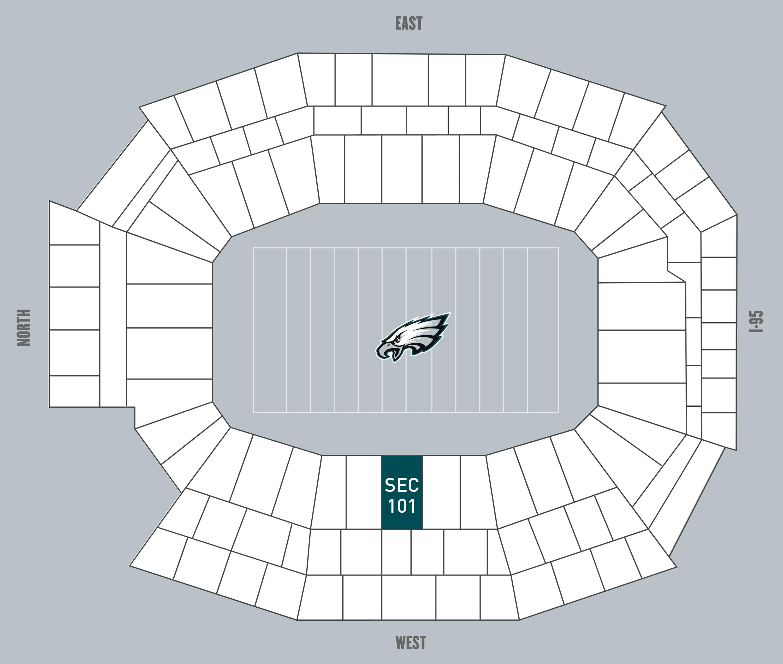 Philadelphia Eagles Touchdown Club Nfl Football Field Diagram Advertising