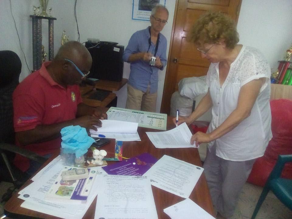 Signature du partenariat avec Oswaldo Morales