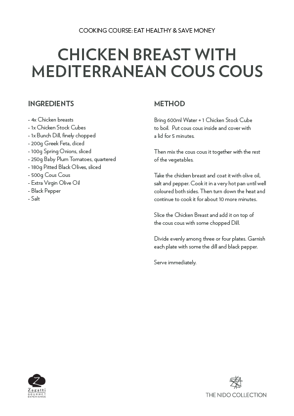 Chicken Breast with Mediterranean cous cous recipe