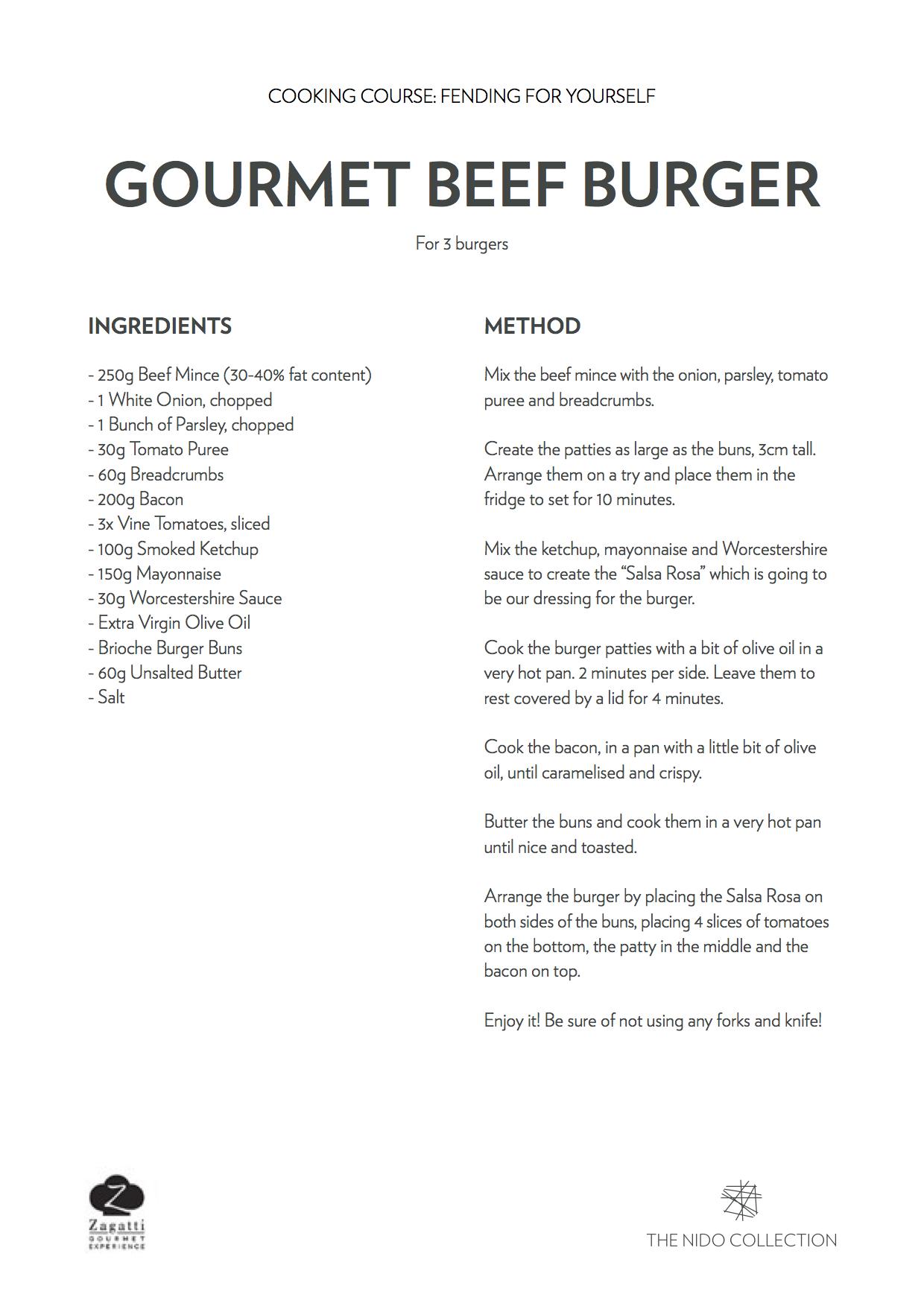 Gourmet Burgers Recipe