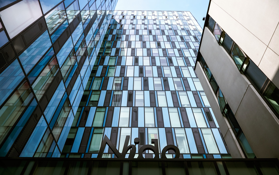 Exterior of Nido Student Accommodation, Kings Cross London