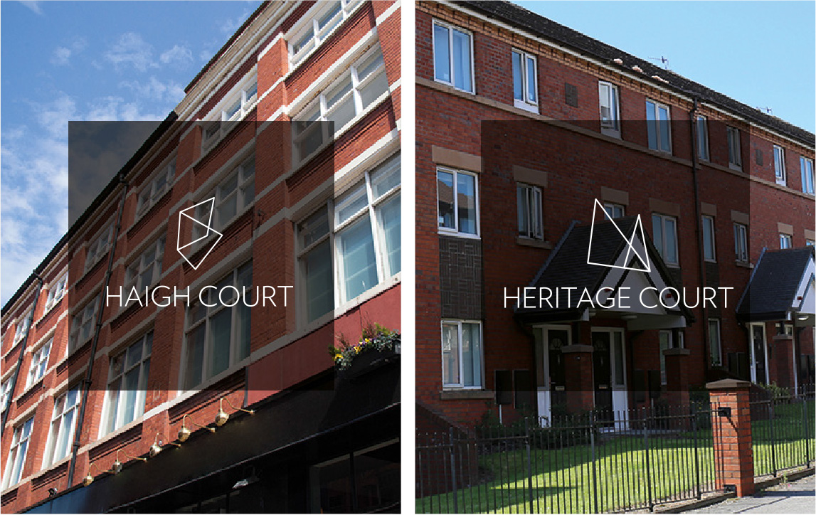 Exterior of Haigh Court and Heritage Court, Nido Student Accommodation in Liverpool