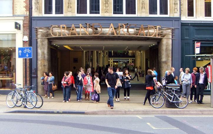 Exterior of the Grand Arcade, Cambridge