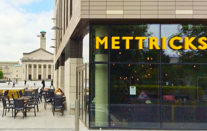 Exterior of Mettrick's Coffee, High Street Southampton