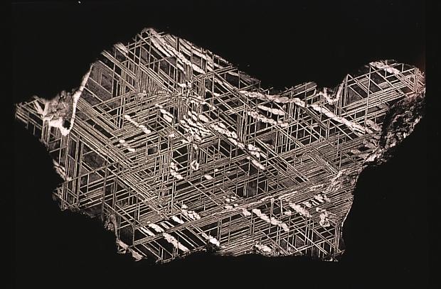 Figury Widmanstättena z meteorytu