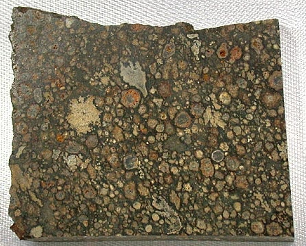 Meteoryt Chondryt widok na ziarna chondry