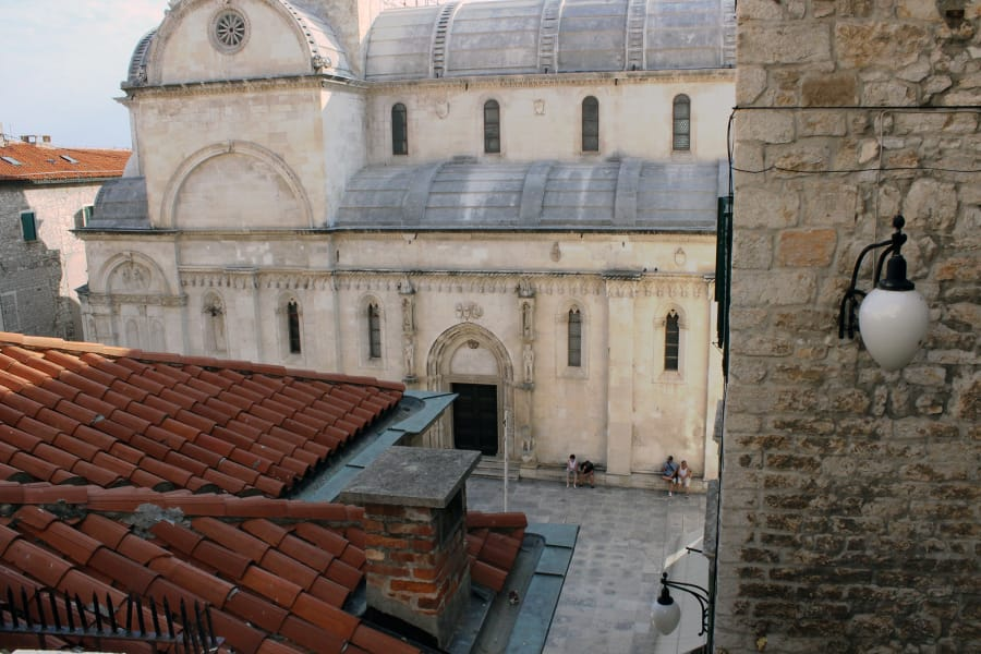 Over the roofs in Sibenik